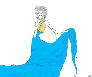 girl, valerism, and illustration image