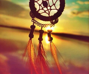 circle, dreamcatcher, and feather image