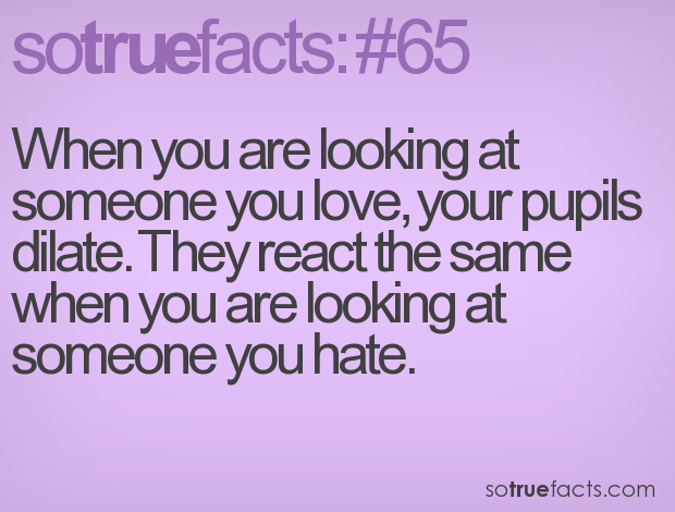 When You Are Looking At Someone You Love Your Pupils Dilate They