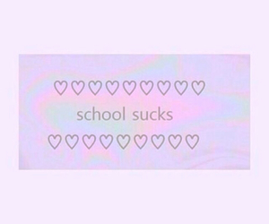 school, pink, and purple image