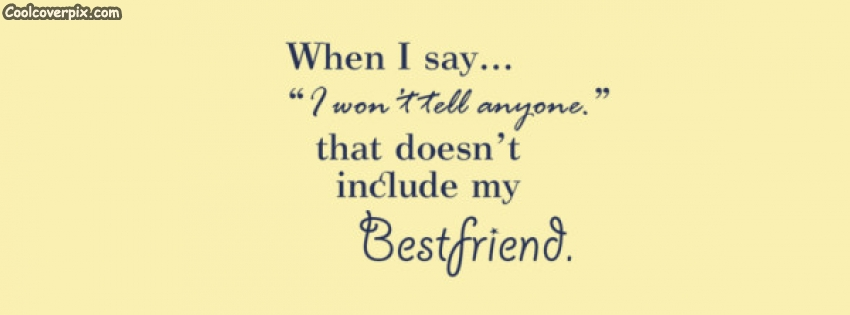 Best Friend Quote Facebook Cover On We Heart It