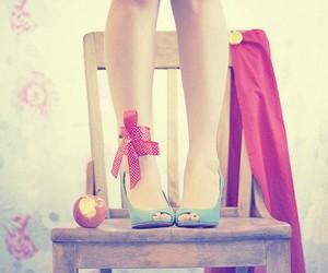 apple, fashion, and peep-toe image