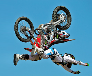 freestyle, supercross, and helmet image