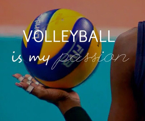 volleyball, passion, and sport image