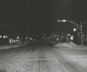 snow and street image