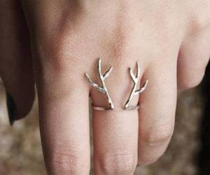 deer, gold, and hipster image