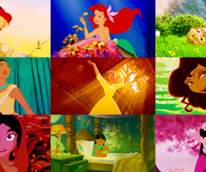 princess, belle, and disney image