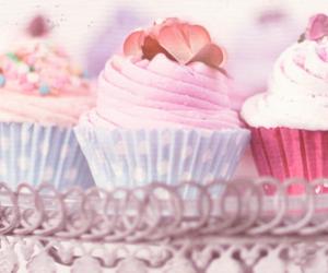 cake, candy, and cupcake image