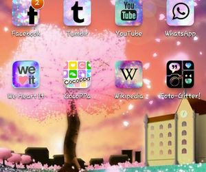 colorful, facebook, and galaxy image