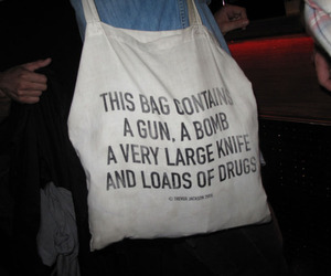 bag, drugs, and gun image