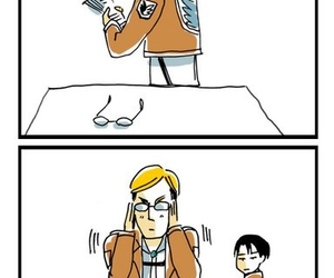 anime, Erwin, and levi image