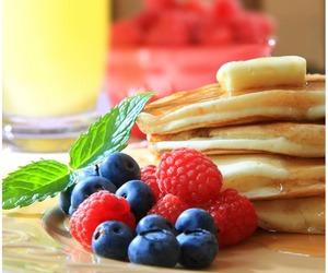 breakfast, food, and raspberry image