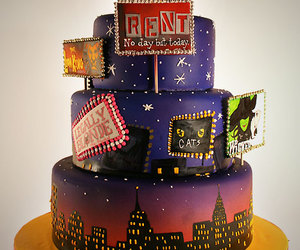 broadway, wicked, and cake image