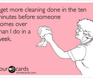 funny, quotes, and cleaning image