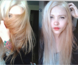 blonde, white, and girl image