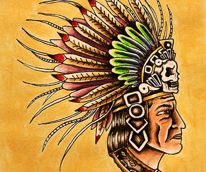 aztec, headdress, and mexican image