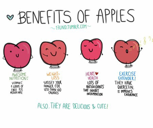 healthy, apple, and food image