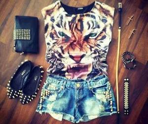 fashion, tiger, and outfit image