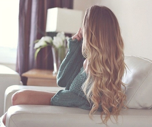 blond, girly, and hair image
