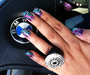 nails, bmw, and fashion image