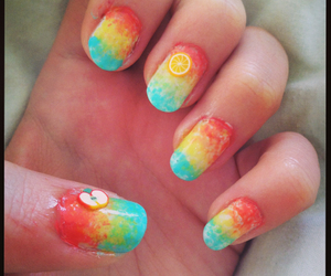 art, colours, and nails image