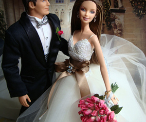 barbie, doll, and wedding image