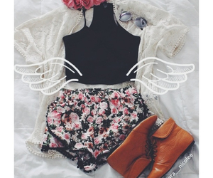 booties, layout, and outfit image