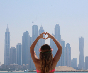 girl, city, and heart image