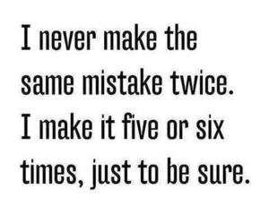 mistakes, quotes, and funny image