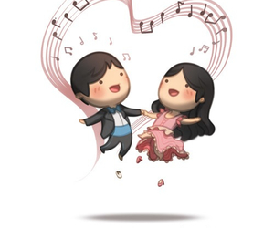 love, dancing, and couple image