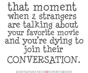 conversation, movie, and text image