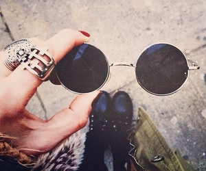 glasses, rings, and style image