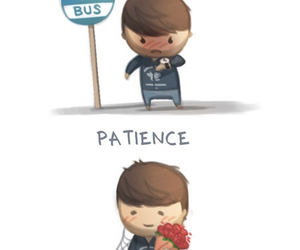 love, patience, and bus image