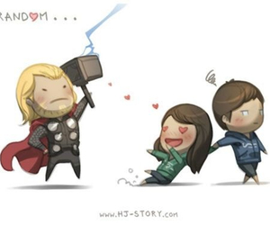 love, thor, and love is image