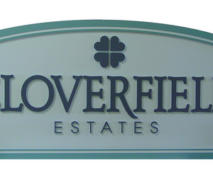 welcome signs, subdivision construction, and subdivision names image