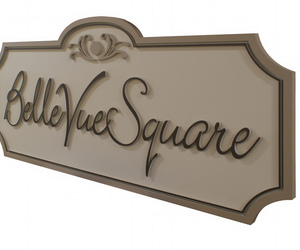 neighborhood entry signs, personalized wooden signs, and large business sign image