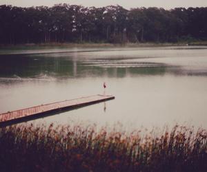 vintage and lake image