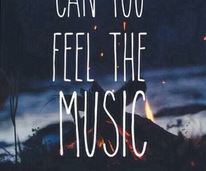 music, feel, and quote image