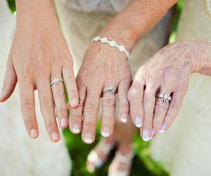rings, wedding, and mother image