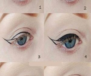 beauty, makeup, and winged eyeliner image