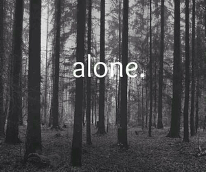 alone, lonely, and people image