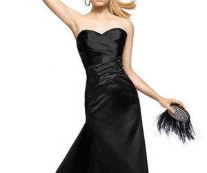 evening long dresses and little black dresses. image