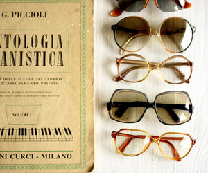 vintage, sunglasses, and book image