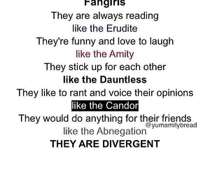 divergent, amity, and book image