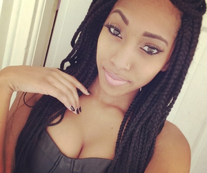 beauty, black, and braids image