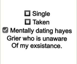 single, taken, and hayes grier image
