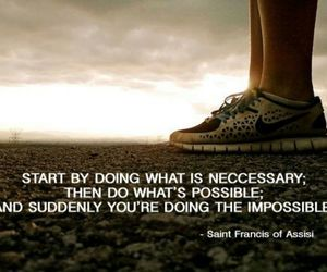 quote, impossible, and motivation image