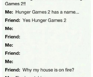 catching fire, the hunger games, and friends image