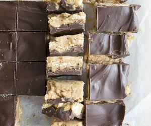 bars, chocolate, and no-bake image