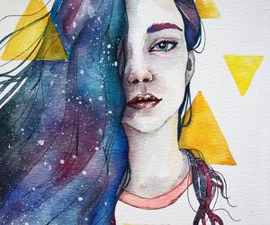 art, triangle, and beautiful image